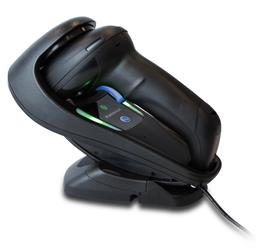 Gryphon Mobile 4500, Black, In Cradle, Left Facing-HR