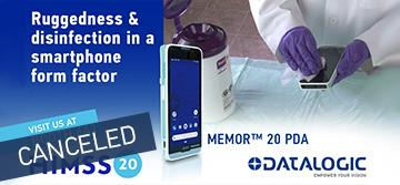Datalogic Launches the Memor™ 20 HC for Healthcare at HIMSS 2020