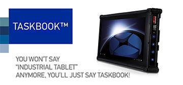 Datalogic TaskBook – the first one-handed scanning tablet for rugged logistics applications!