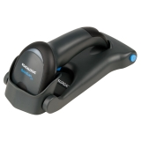 QuickScan Lite QW2100 in Flat Stand, Black, Left Facing