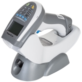 PowerScan PM9500 Retail ~ 16 Keys, In Charger, White, Left Facing