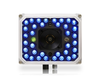 Matrix 320 ~ Front facing, white front, 36 blue LEDs with 1 green lite