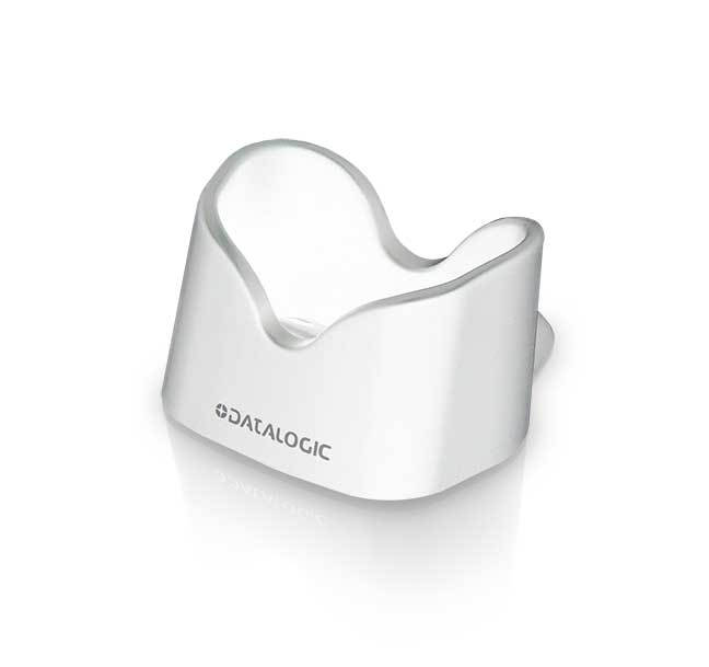 QuickScan QD2500, Desk-wall holder, White, left facing